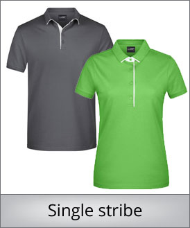 Single stribe polo shirt